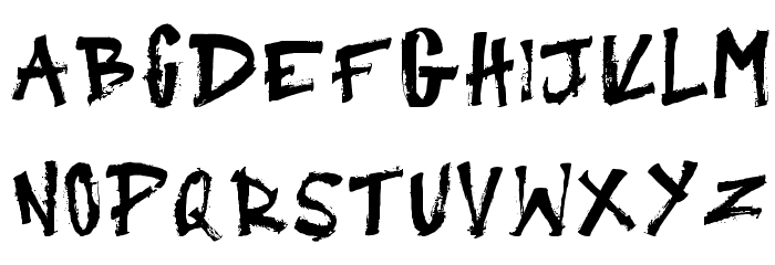 Primitive Regular Font LOWERCASE