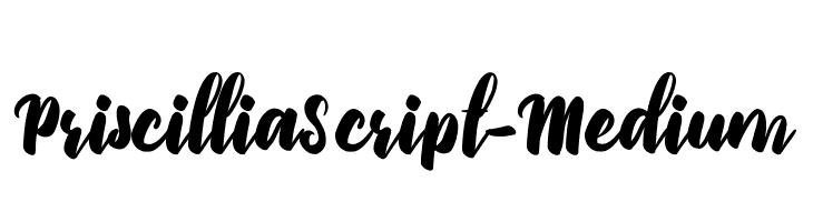 PriscilliaScript-Medium फ़ॉन्ट