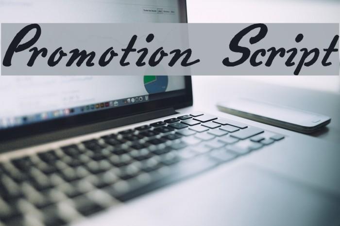 Promotion Script Fonte examples