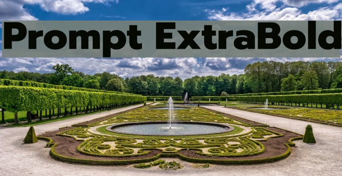 Prompt ExtraBold Fonte examples