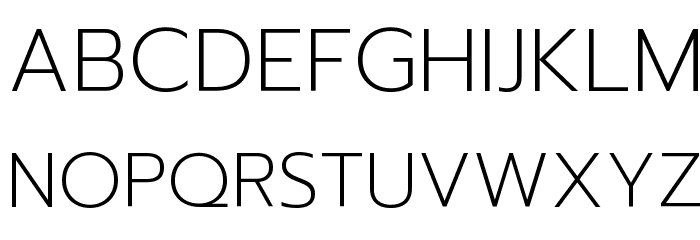 Prompt ExtraLight Font UPPERCASE