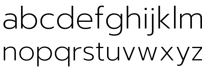 Prompt ExtraLight Font LOWERCASE