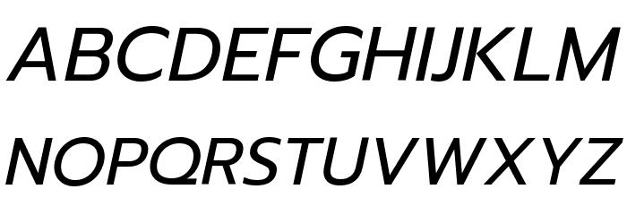 Prompt Italic Font UPPERCASE