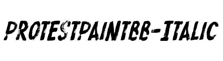 ProtestPaintBB-Italic  Free Fonts Download