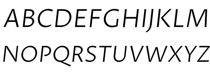 Proza Libre Light Italic Font UPPERCASE