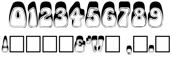 Psychedelic Font OTHER CHARS