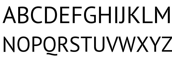 PT Sans Font UPPERCASE