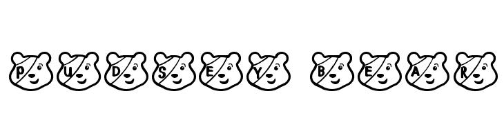PUDSEY BEAR  नि: शुल्क फ़ॉन्ट्स डाउनलोड