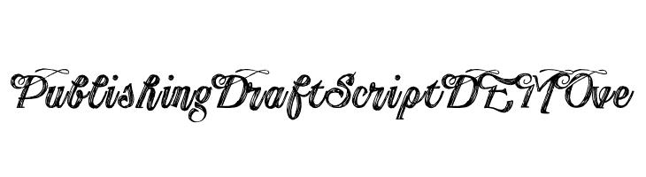 Publishing Draft Script DEMO ve  baixar fontes gratis