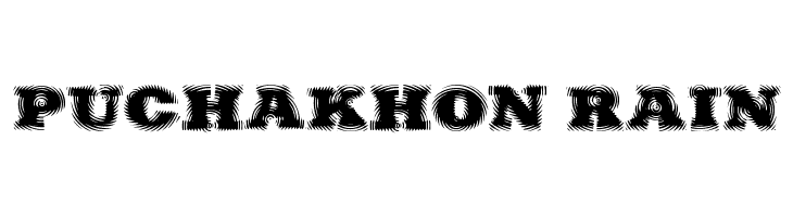 Puchakhon RAIN  Free Fonts Download