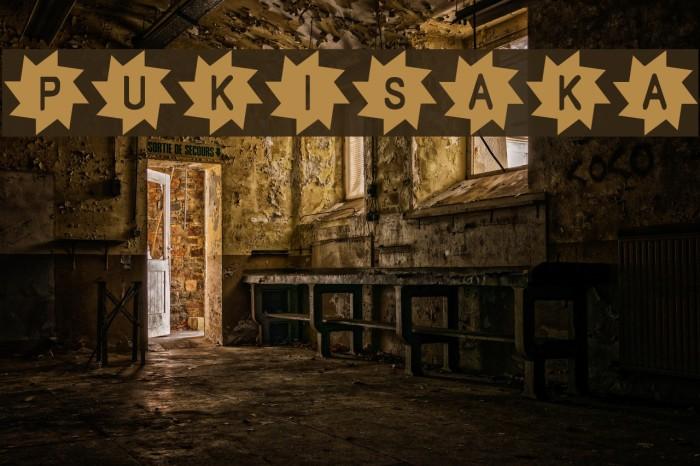Pukisaka Font examples
