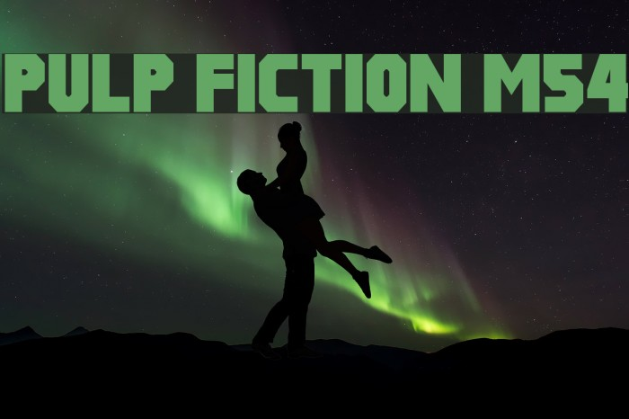 Pulp Fiction M54 Fonte examples