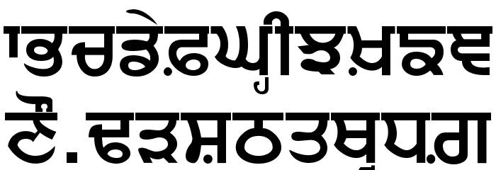 Punjabi bold font Punjabi calligraphy font