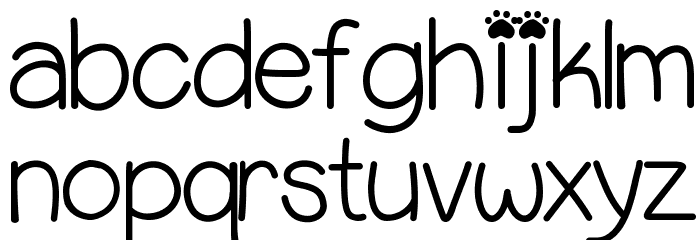 PuppyBellies Font LOWERCASE