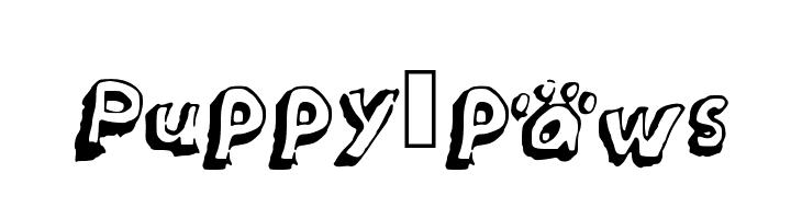Puppy_paws  Fuentes Gratis Descargar
