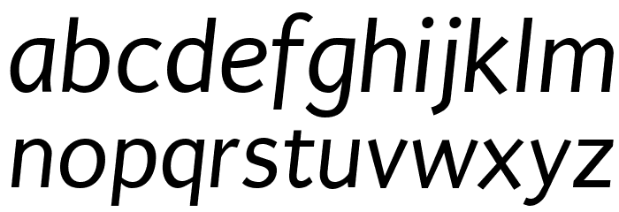 Puritan Italic Font LOWERCASE