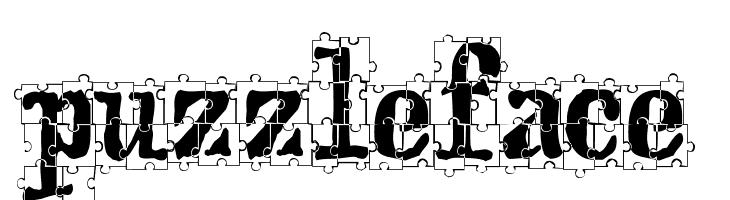 puzzleface  Free Fonts Download