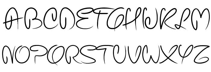 pw curvy regular script font uppercase