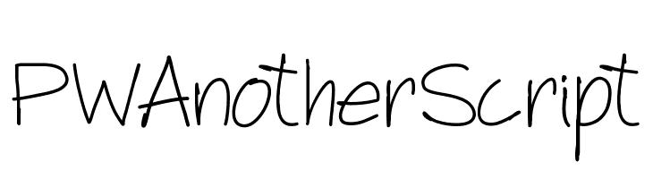PWAnotherScript  नि: शुल्क फ़ॉन्ट्स डाउनलोड