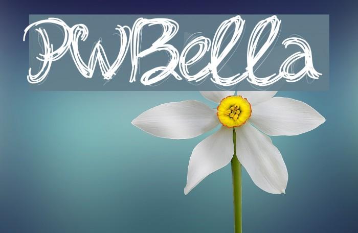 PWBella फ़ॉन्ट examples