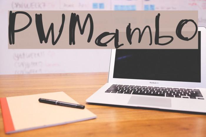 PWMambo फ़ॉन्ट examples