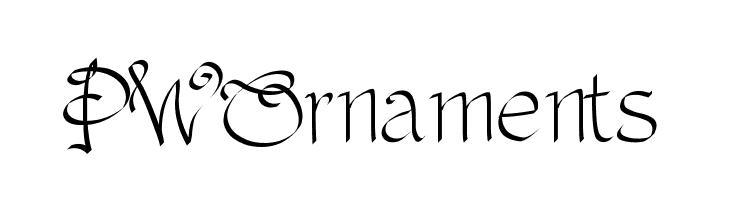 PWOrnaments  Скачать бесплатные шрифты