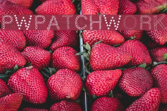 PWPatchwork Шрифта examples