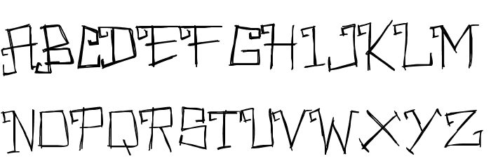 PWRectangular Font UPPERCASE