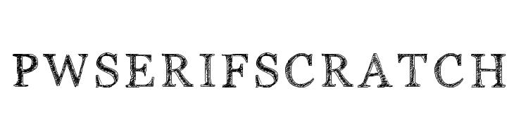 PWSerifScratch  les polices de caractères gratuit télécharger