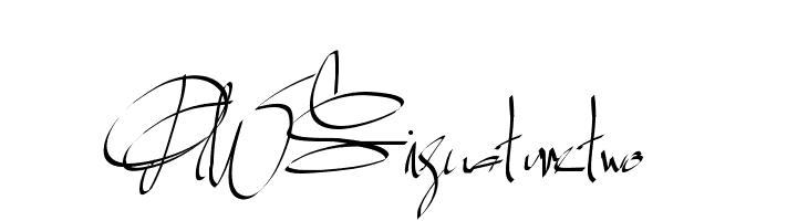 PWSignaturetwo  Скачать бесплатные шрифты