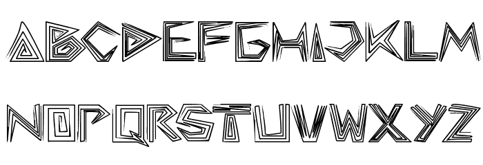 pyramid inverted Font LOWERCASE