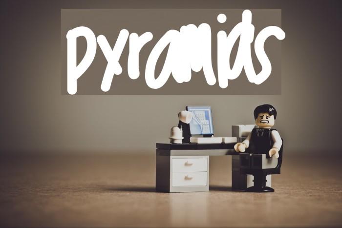 pyramids Font examples