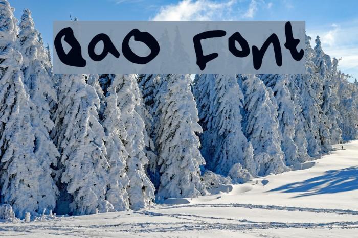 QaO Font examples
