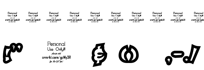 Qaddal Personal Use Regular Fonte OUTROS PERSONAGENS