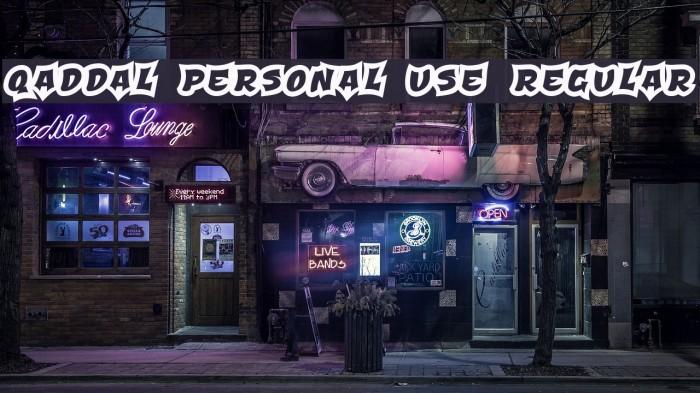 Qaddal Personal Use Regular Fonte examples