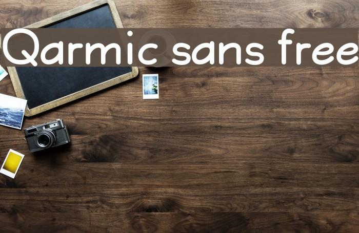 Qarmic sans free لخطوط تنزيل examples