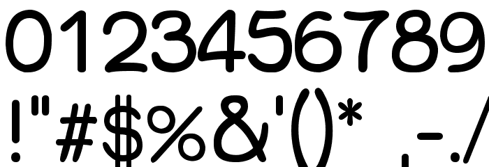 Qarmic-sans フォント その他の文字