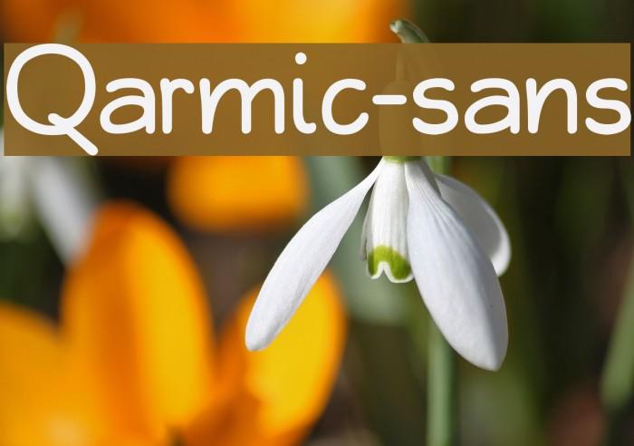 Qarmic-sans Шрифта examples