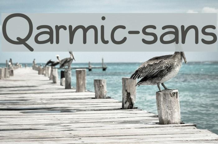 Qarmic-sans フォント examples