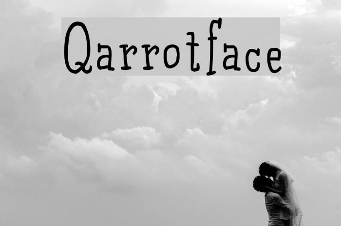 Qarrotface 字体 examples