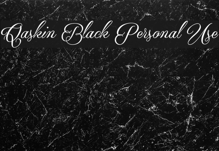 Qaskin Black Personal Use Font examples