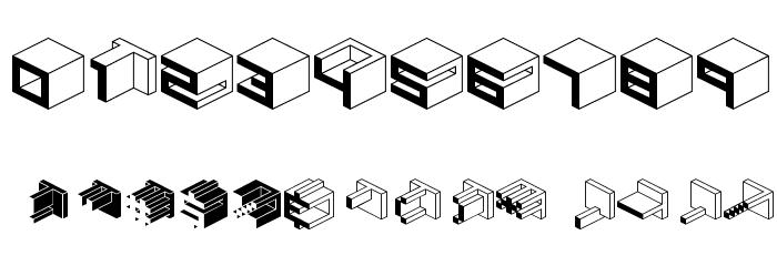 Qbicle1BRKMKinv Font OTHER CHARS