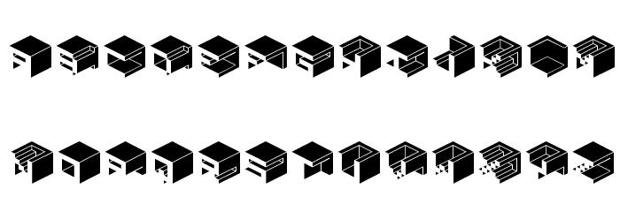 Qbicle1BRKMKinv Font UPPERCASE