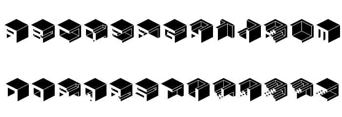 Qbicle1BRKMKinv Font LOWERCASE