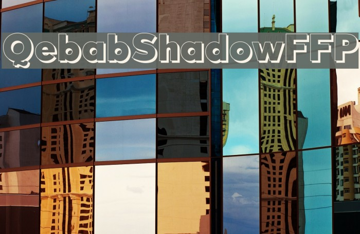 QebabShadowFFP फ़ॉन्ट examples