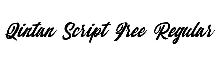 Qintan Script Free Regular  Скачать бесплатные шрифты