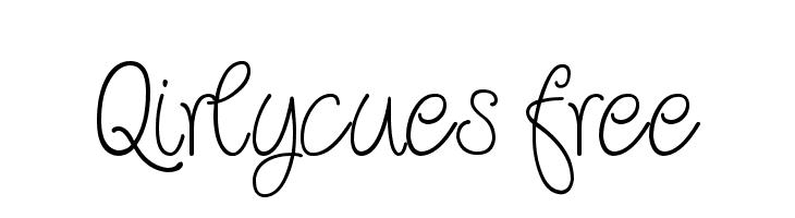 Qirlycues free  baixar fontes gratis
