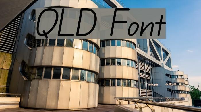 QLD Schriftart examples