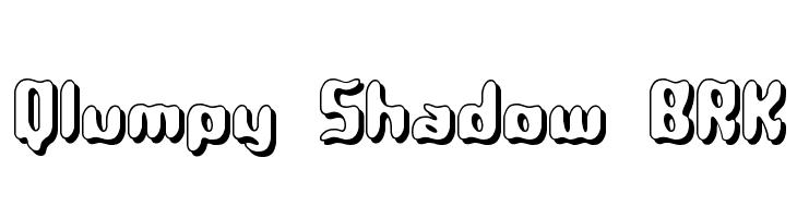 Qlumpy Shadow BRK  Free Fonts Download