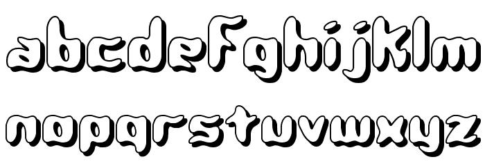 Qlumpy Shadow BRK Font LOWERCASE